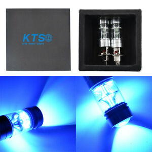 2x H1 8000k 100w Led Iceberg Blue 20 Smd Projector Fog Driving Drl Light Bulb