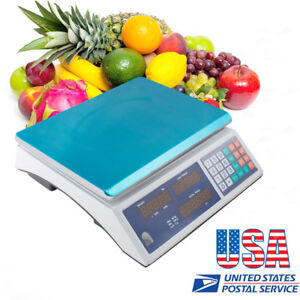 New 30kg 60 pound Scale Digital Price Food Meat Candy Restaurant Market Use us