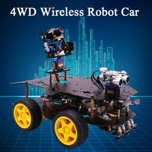 4wd Robot Car Kit Tracking Wifi Wireless For Raspberry Pi 3b stm32 arduino Uno