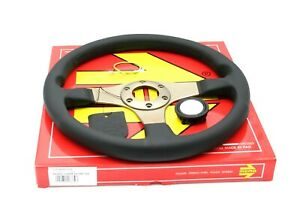 Momo Tuner Silver Steering Wheel Leather 320mm New Genuine Tun32bk0s