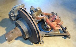 Mga 1600 Front Right Wire Wheel Disc Brake Suspension Assembly Nice Clean Bus
