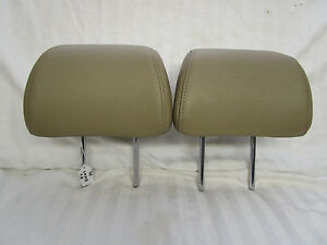 Oem 1997 2000 Saab 9 5 Camel Tan Leather Front Seat Headrests Very Nice