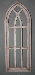 Wooden Antique Style Church Window Frame Primitive Wood Gothic 27 Shabby