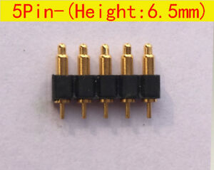 5pin 6 5mm Height Spring Loaded Probe Pogo Pin Connector Battery Contacts 50pcs
