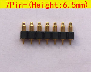 7pin 6 5mm Height Pitch 2 54mm Spring Loaded Probe Pogo Pin Connector 30pcs