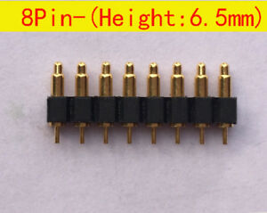 8pin 6 5mm Height Probe Battery Spring Loaded Pin Pogo Pin Connector Probe 30pcs