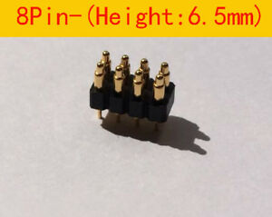 8pin 6 5mm Height Double Row Spring Loaded Pogo Pin Connector Test Probe 30pcs