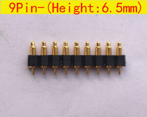 9pin 6 5mm Height Test Probe 2 54mm Spring Loaded Pin Pogo Pin Connector 30pcs