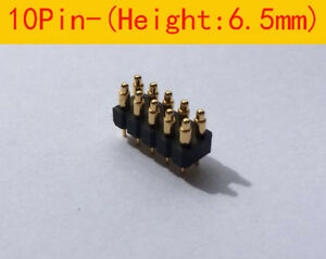 10pin 6 5mm Height Double Row Pitch 2 54mm Pogo Pin Connector Test Probe 30pcs