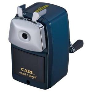 Carl Angel 5 Royal Pencil Sharpener A5ry b Hand Crank Metal Body Retro Style