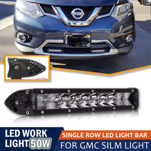 1pcs 11inch 50w Led Single Row Light Bar Work Combo Light For Maverick Snow Plow