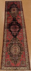 Persian Serab Tribal Hand Knotted Wool Rose Ivory Oriental Rug Runner 3 2 X 12 8