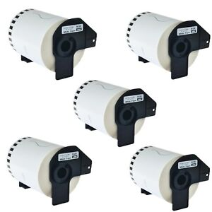 5 Roll Dk 2243 Compatible Brother Continuous Labels White Paper Tape 4in X 100ft