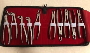 10 Pc Dental Instrument Extraction Forceps Kit