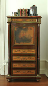 Stunning Louis Xv Xvi Style French Antique Secretaire Writing Desk 19th Cent