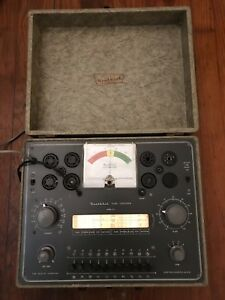 Heathkit Tc 2p Vintage 1954 Vacuum Tube Tester Portable Checker tested Working