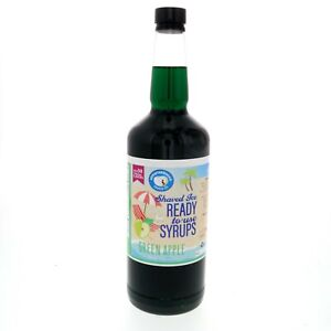 Hawaiian Shaved Ice Or Snow Cone Flavored Syrup Green Apple 32 Fl Oz