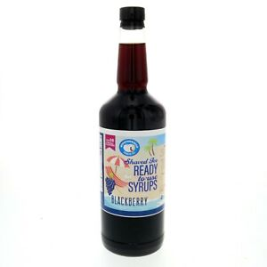 Hawaiian Shaved Ice Or Snow Cone Syrup Ready To Use Blackberry 32 Fl Oz