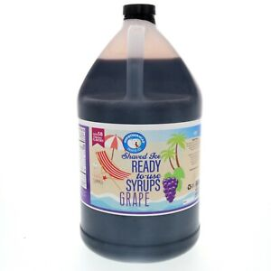 Snow Cone Or Hawaiian Shaved Ice Flavored Syrup Grape Gallon 128 Fl Oz
