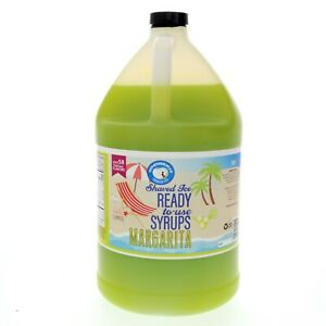 Snow Cone Or Hawaiian Shaved Ice Syrup Margarita Syrup Ready To Use Gallon