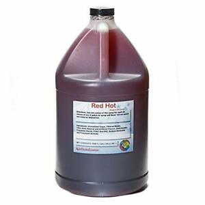 Red Hot Ready To Use Shaved Ice Or Sno Cone Syrup Gallon 128 Fl Oz