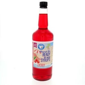 Snow Cone Syrup Or Hawaiian Shaved Ice Ready To Use Cherry 32 Fl Oz
