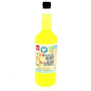 Hawaiian Shaved Ice Syrup For Snow Cone Flavor Pina Colada Ready To Use Quart