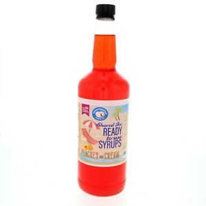 Peaches And Cream Hawaiian Shaved Ice Or Snow Cone Syrup Ready To Use Quart