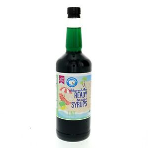 Snow Cone Syrup Or Hawaiian Shaved Ice Ready To Use Lime Flavor Quart