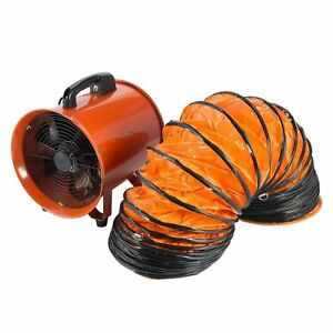 12in Exhaust Fan Ventilator Blower Duct Hose Hvac Stand Alone Plug In Moveable