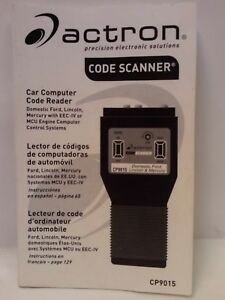 Acton Cp9015 Car Computer Code Reader Manual Manual Only Year 2000 Eng Spanish