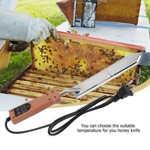 Electric Honey Cutting Knife Honey Extractor Uncapping Beekeeping Tool Us Plug