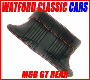 Mgb Gt Rear Seat Covers All Years Black red Piping