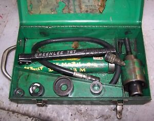 Greenlee 7306 Knockout Punch Driver Set W Hand Pump 767