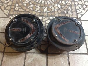 Pair Grote 240 Flange Early Arrow Turn Signal Light Vintage Truck Bus