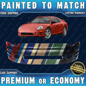 Painted To Match Front Bumper Replacement For 2002 2005 Mitsubishi Eclipse W Fog