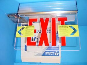 Lithonia Lighting Red Exit Surface Mount Edge lit Led Exit Sign