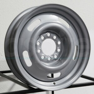 15x7 Vision 55 Rally 6x5 5 6x139 7 6 Silver Wheels Rims Set 4