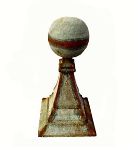 Farmstead Spherical Architectural Finial Tin