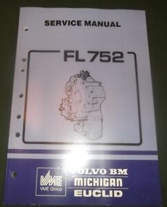 Volvo Bm Michigan Euclid Truck Fl752 Axle Dropbox Repair Service Shop Manual