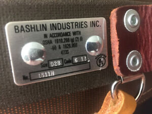 Bashlin D28 1511n Climbing Belt New