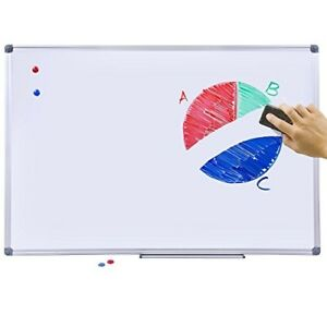 Magnetic Dry Erase Board 24x36 Inch White Board With Aluminum Frame Dry Erase