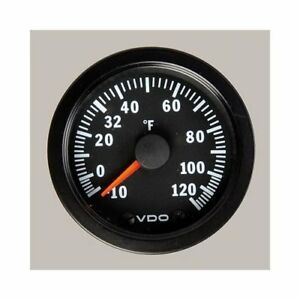 Vdo Vision Electrical Outside Air Temperature Gauge 2 1 16 Dia Black Face