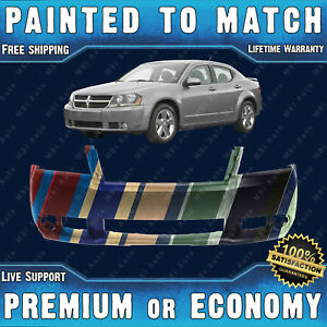 New Painted To Match Front Bumper Replacement For 2008 2009 2010 Dodge Avenger