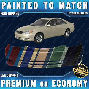 Painted To Match Front Bumper Replacement For 2002 2003 2004 Toyota Camry W fog