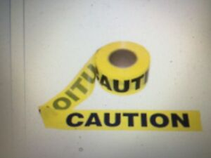 4 Caution Tape Rolls 1000 Yellow black