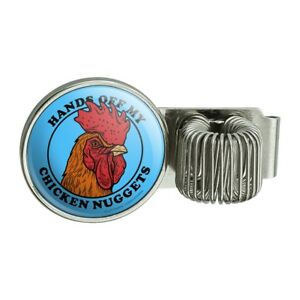 Hands Off My Chicken Nuggets Funny Pen Holder Clip For Planner Journal Book