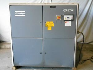 Atlas Copco Ga37 Ff 50 Hp W Dryer Rotary Screw Air Compressor 100 Cfm 460 3ph