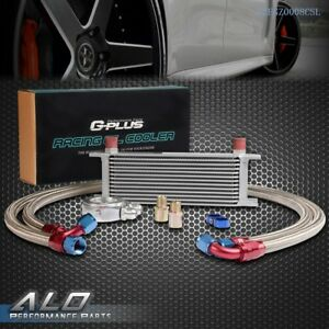 Gplus 13 Row An10 Universal Engine Transmission Oil Cooler Filter Adapter Kit