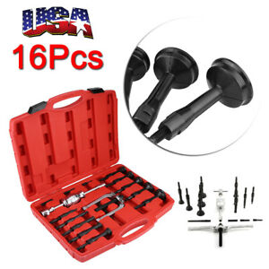 16pc Inner Bearing Races Blind Hole Gear Bushes Extractor Puller Separator Sets